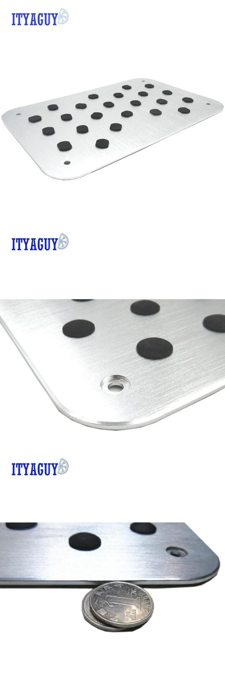 [Visit to Buy] Car styling Aluminum Floor Carpet Mat Pad Plate Pedal Foot Truck For SUBAR U Tribeca  Legacy Outback Impreza Forester with logo  #Advertisement