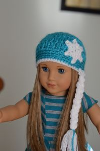 Free crochet pattern. Pattern category: Doll Clothes American Girl Doll. Aran weight yarn. 0-150 yards. Features: In-the-round. Easy difficulty level.