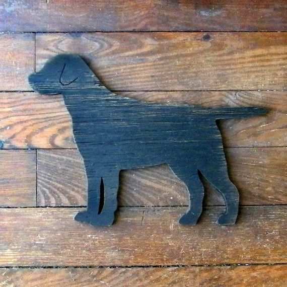 Lab Dog Sign Dog Black Yellow Chocolate Lab Wood Labrador Retriever. $39.00, via Etsy.