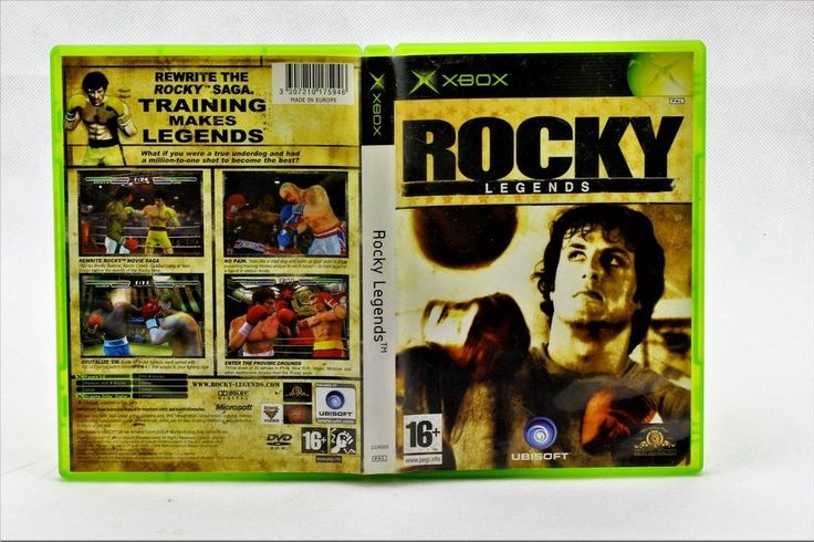 XBOX ORIGINAL ROCKY LEGENDS BOXING VIDEO GAME PAL UNISOFT COMPUTER 1-2 PLAYERS