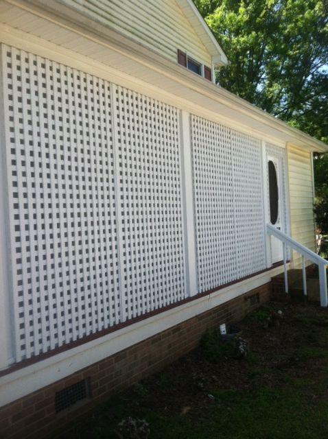 Lattice Screen Porch