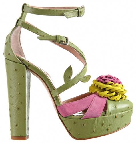 Minna Parikka Pompom sandal green