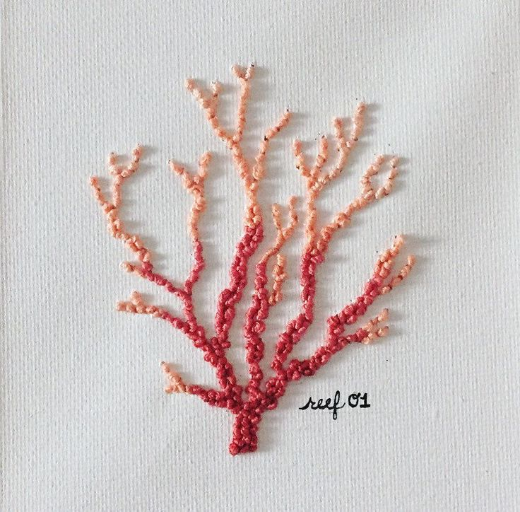 Handcrafted Coral Reef Embroidery by Michaelyn Schrock Lymestonestudio on Etsy https://www.etsy.com/listing/501632393/handcrafted-coral-reef-embroidery