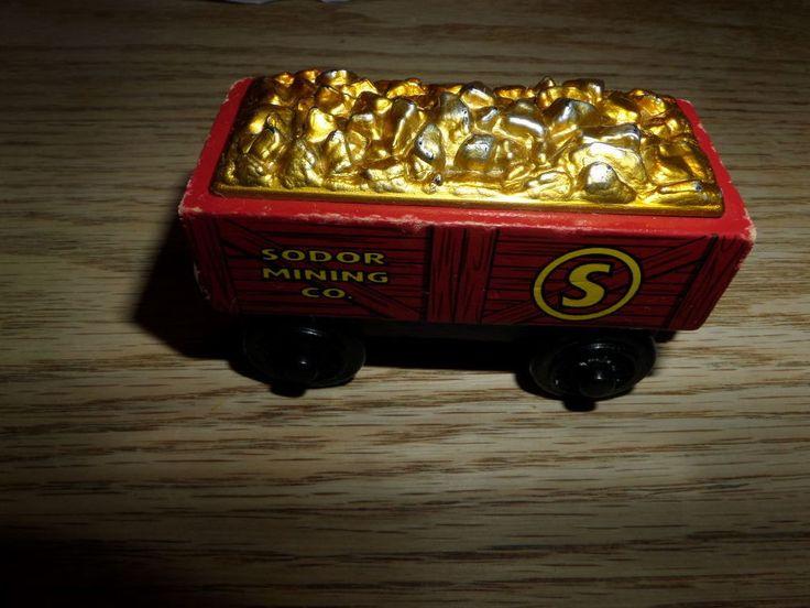 Thomas Engine Wooden Railway Train Sodor Mining Gold Car 2003, 3+, Boys & Girls #LearningCurve