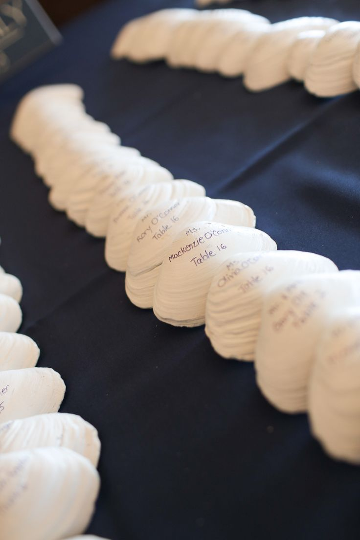 Nautical place cards for wedding More
