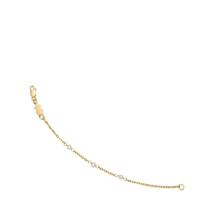 Złota bransoletka z perłami dla dziecka Tous Baby