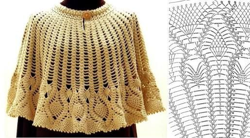 「ponchos tejidos a crochet」の画像検索結果