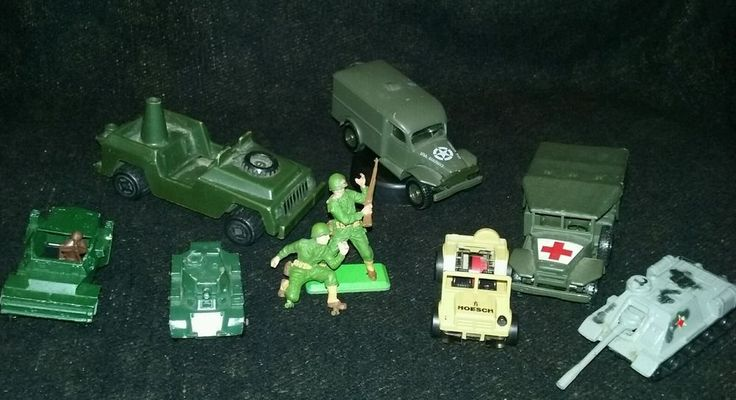 Vintage Military Die Cast Lot ~ Lesney Darda Deetail Corgi Solido ~ Free Ship!  #BritainsDeetail