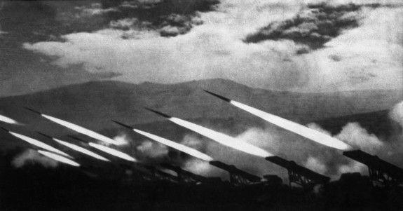 """Volley """"Katyusha"""", 1944, photo Arcadia Shaikhet"""
