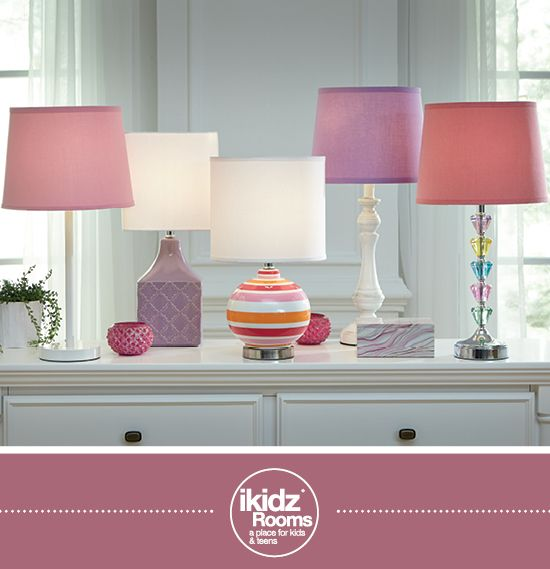 Colorful lamps in pink, purple and orange - iKidz Rooms® - Kids, Youth and Teen Bedroom Furniture and Accessories