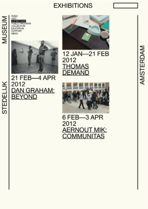 Stedelijk Museum Website (proposal) Mevis & van Deursen