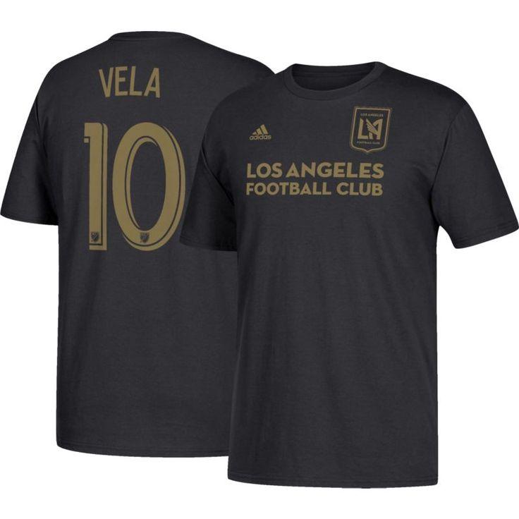 adidas Men's Los Angeles FC Carlos Vela #10 Black T-Shirt, Size: Small, Multi