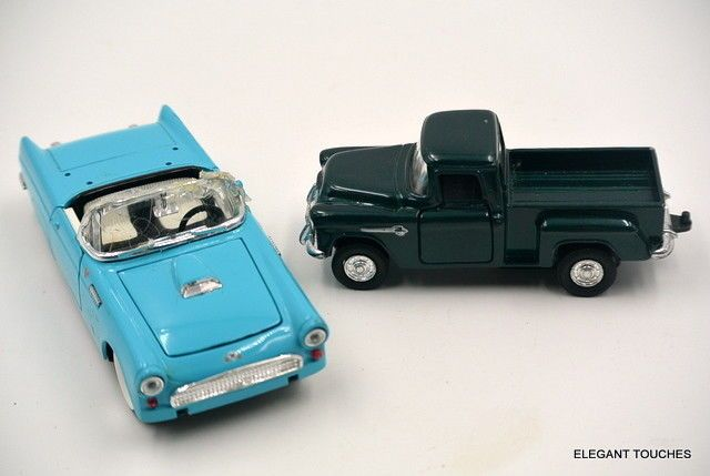 2 vintage die-cast metal Green Truck and Firebird Car #Unbranded #Ford