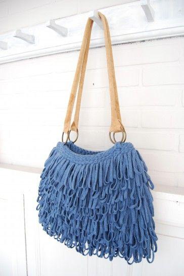 Tassen haken : Gratis haakpatroon lusjestas handbags knit crochet