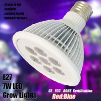 E27 Full Spectrum Led Grow Lights 7W 85-265V LED Horticole Plant Lamp Hydroponic Lamparas For Greenhouse Home Reef Garden Growth