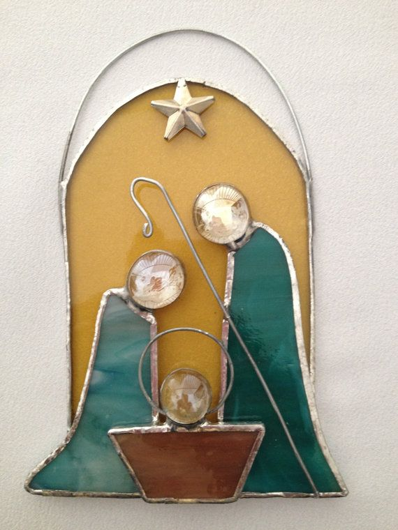 Stained Glass Christmas Ornament: