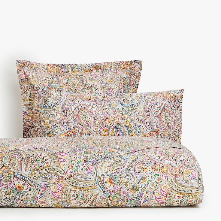 Image 1 of the product Multicoloured paisley print duvet cover