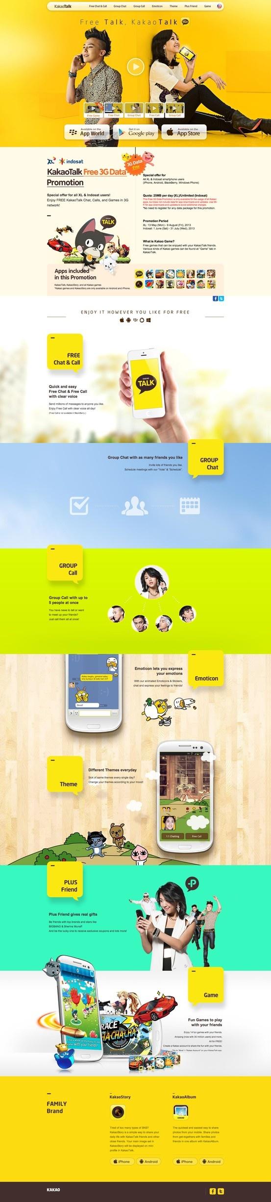 Unique Web Design, KakaoTalk #WebDesign #Design (http://www.pinterest.com/aldenchong/)