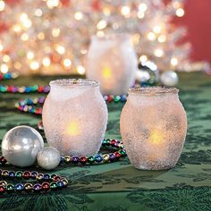 Epsom Salt Candle Holders   -  orientaltrading.com http://www.freefunchristmas.com/