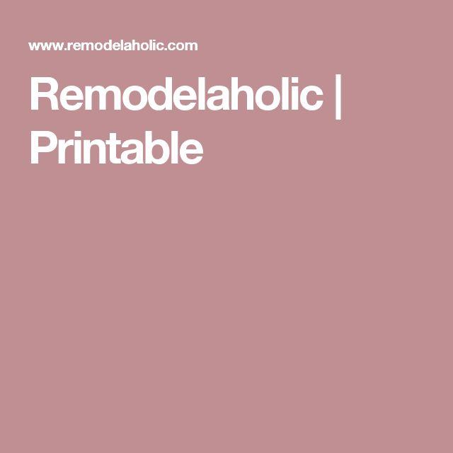 Remodelaholic | Printable