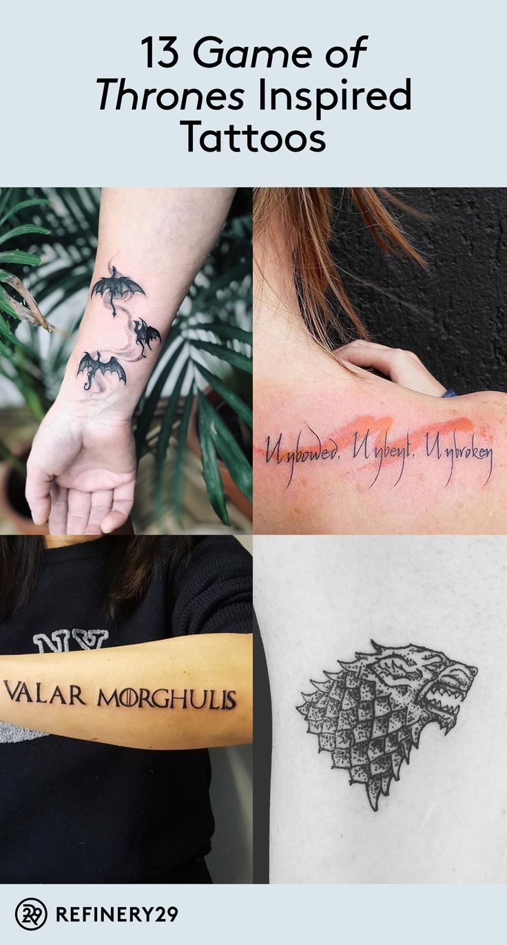 14 Game Of Thrones Tattoos That Will Keep The Pack Alive Game Of Thrones Tattoo Tattoos Gaming Tattoo