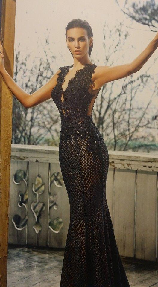 Robe libanaise noire sirène super sexy
