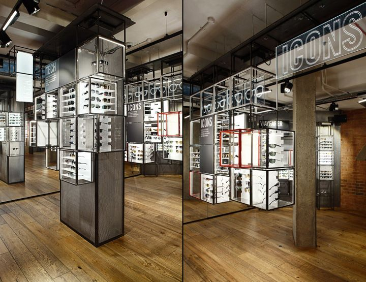 official ray ban shop  ray ban concept store at covent garden by puresang, london eyewear store design