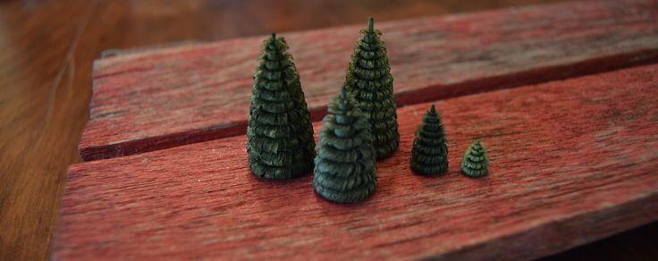 Shaved Pine Trees 1cm - 5cm