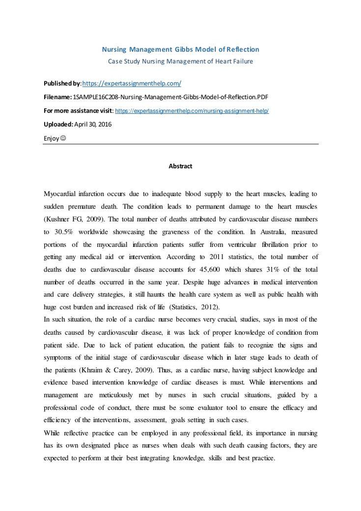 Nursing Management Gibbs Model Of Reflection Student Unilife