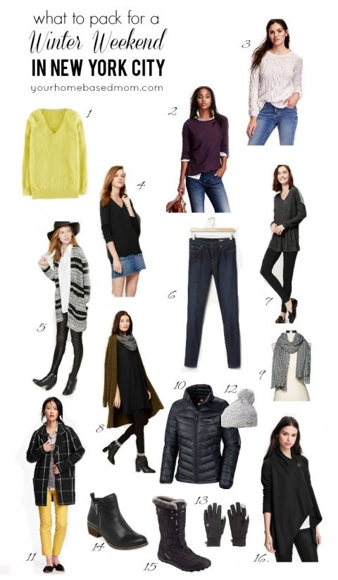 what to pack for a winter weekend in new york city