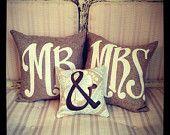 Mr & Mrs - Wedding Pillow - Engagement - Anniversary