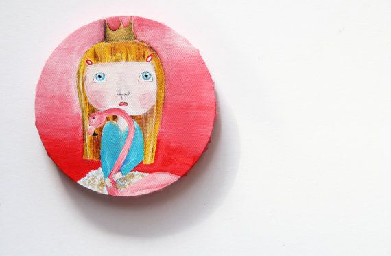 ORIGINAL painting Acrylic painting Naive art by NataliesWunderland
