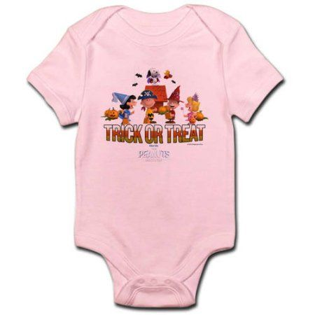 CafePress The Peanuts Movie - Trick or Treat Infant Bodysuit, Pink