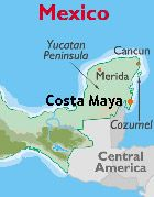 Costa Maya, Mexico. This was a good reference map for our trip. www.marianneperry.ca