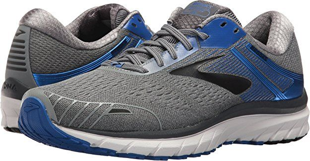 19c6efbb0d8e4 Brooks Men s Adrenaline GTS 18 Grey Blue Black 10.5 D US D (M)