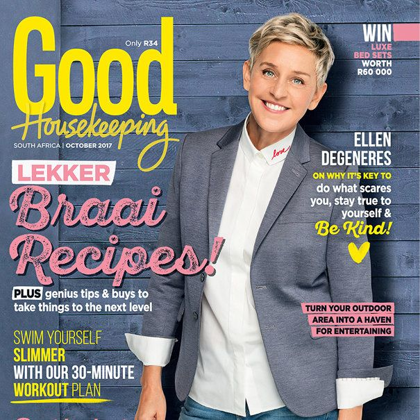 Get the October issue of GH today! The new issue of Good Housekeeping magazine, with the inspiring Ellen DeGeneres on the cover, is on sale now!