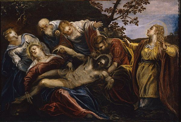 Llanto por Cristo muerto  Tintoretto 1555