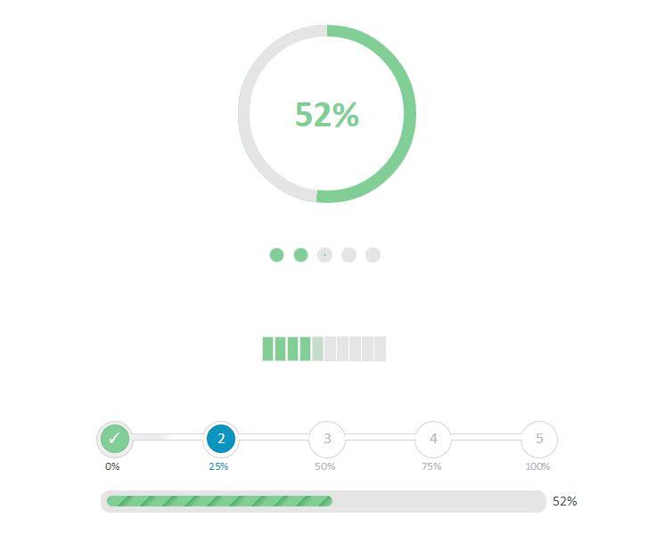 jquery css progress bar                                                                                                                                                     More