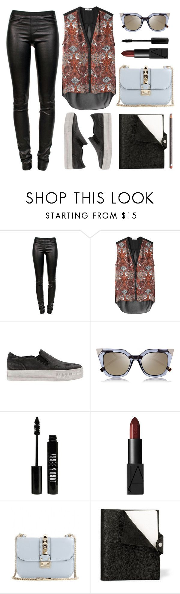 """""""Tricky Trend: Platform Sneakers"""" by felytery ❤ liked on Polyvore featuring Helmut Lang, Ash, Fendi, Lord & Berry, NARS Cosmetics, Valentino, Hermès and platformsneakers"""
