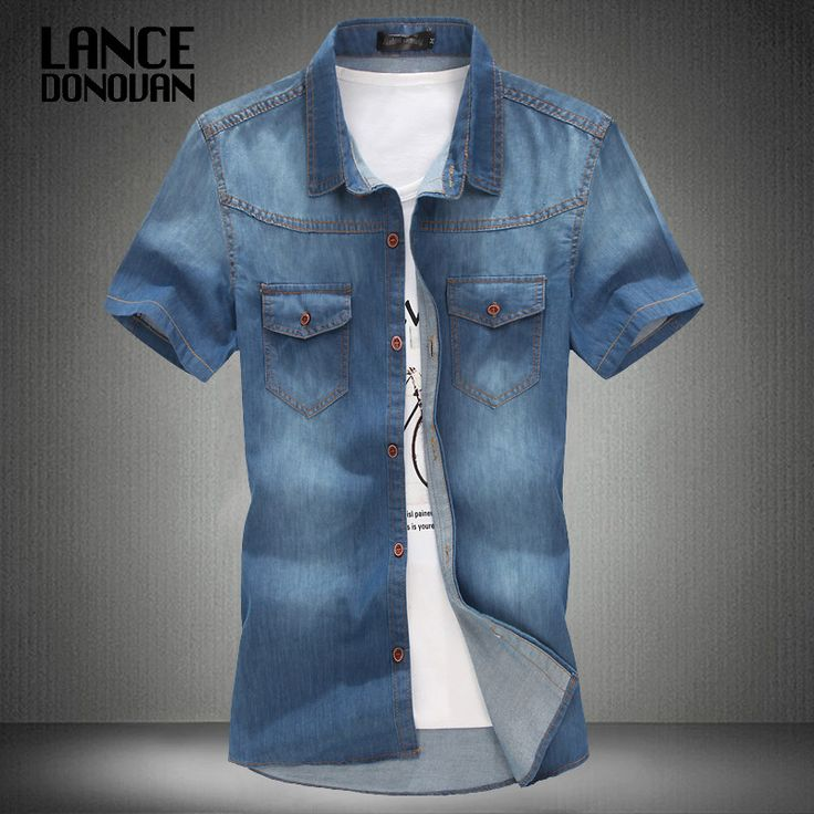 Now available on our store: 3 color blue summ... Check it out here! http://toutabay.com/products/3-color-blue-summer-denim-jeans-shirt-for-men?utm_campaign=social_autopilot&utm_source=pin&utm_medium=pin