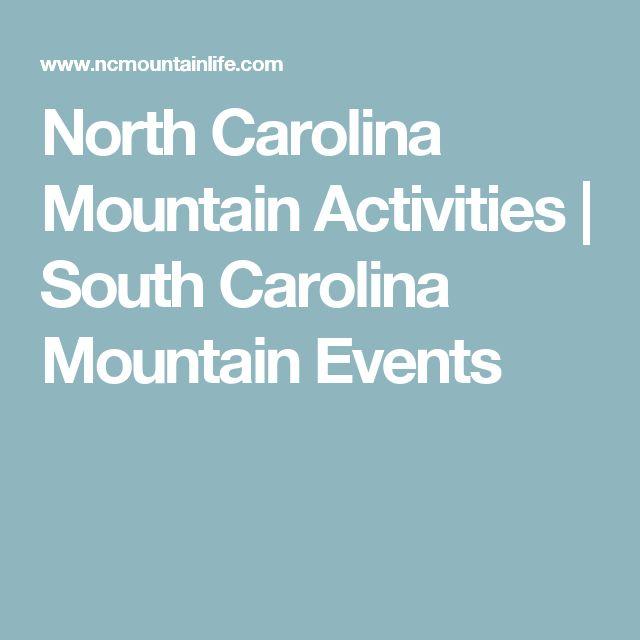 North Carolina Mountain Activities | South Carolina Mountain Events