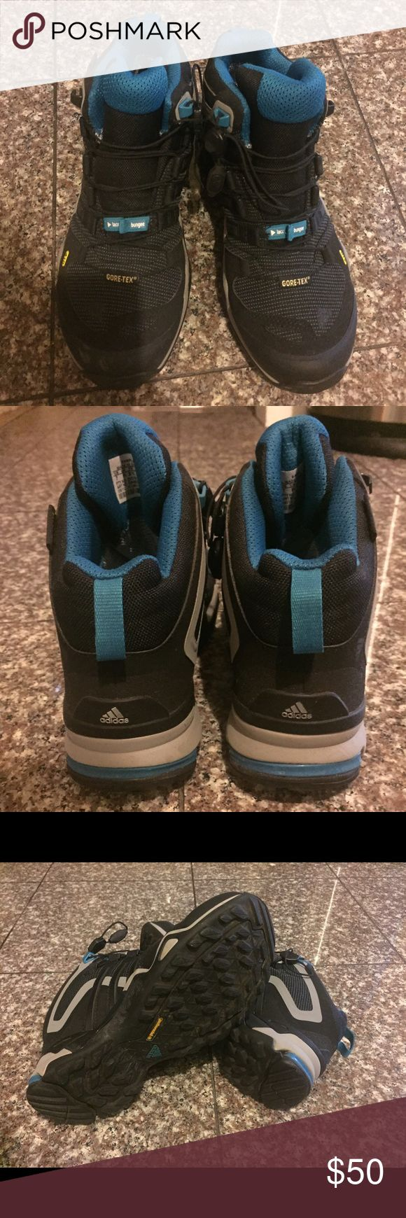 Women's size 7 adidas trail hiking ankle boots Like new condition. Only worn once. I no longer have time to hike. Women's size 7. Provides ankle support Adidas Shoes Lace Up Boots