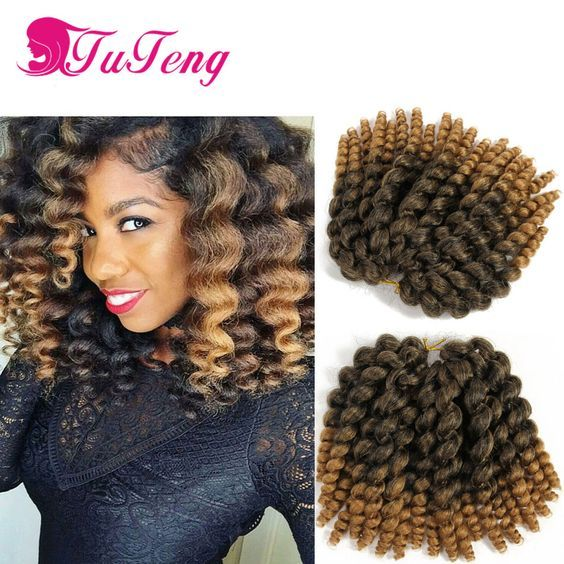 wand curl Crochet Braids curly Crochet Hair Extensions 22 Roots/Piece ...