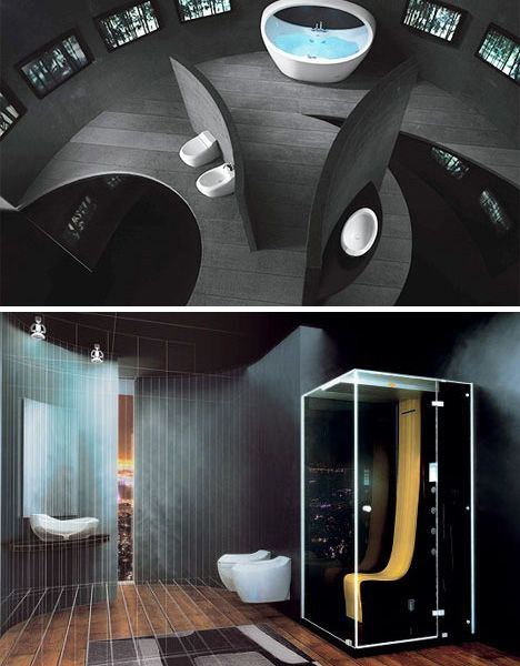 Something to work with.: Modern Luxury Black Bathroom, Luxury Bathroom, Romantic Bathroom, Interiors Design, Dynamic Bathroom, Beautiful Bathroom, Bathroom Designs, Bathroom Ideas, Bedroom Designs