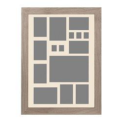 "CHARLIE - $25 JÄLLVIK collage frame for 15 photos, light gray Width: 22 ¾ "" Height: 30 ¾ "" Picture, width: 19 ¾ "" Width: 58 cm Height: 78 cm Picture, widt..."