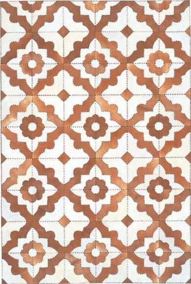 Cowhide Morocco by The Rug Company | Cowhide and Leather Stitching Rug