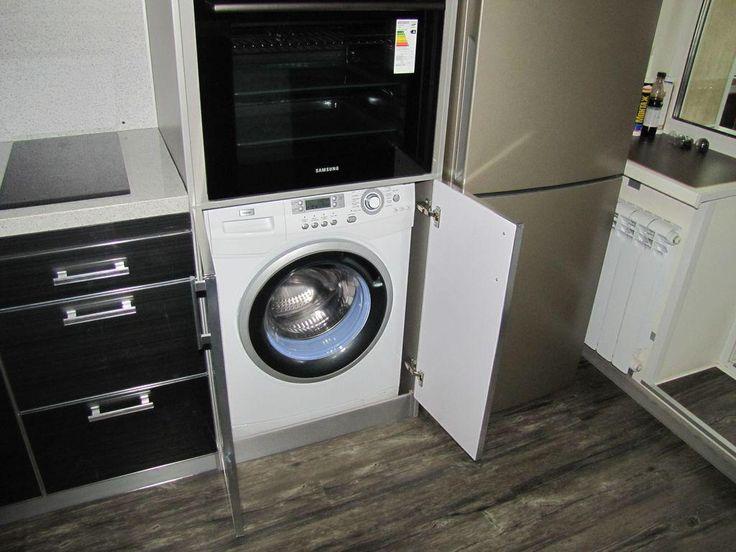 Ремонт кухни, встраиваемая стиральная машина на кухне