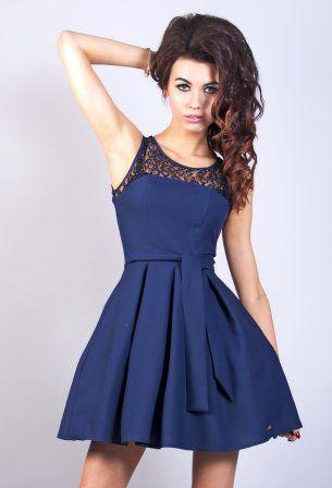 Granatowa sukienka Model:AA-1753