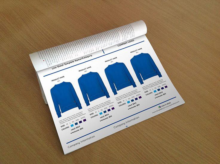 Shirt Line Sheet Template