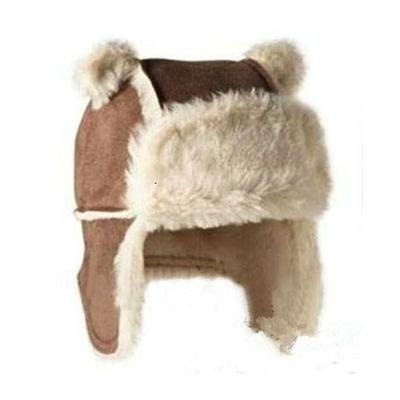 Faux suede Earflaps Warm Baby's Bomber Hats